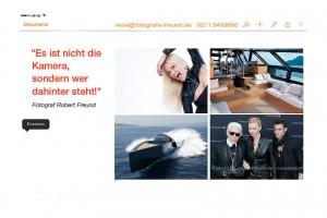 Webseiten Startfoto vom Düsseldorfer Fotografen Robert Freund