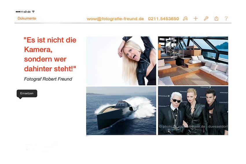 Fotograf Robert Freund, Düsseldorf